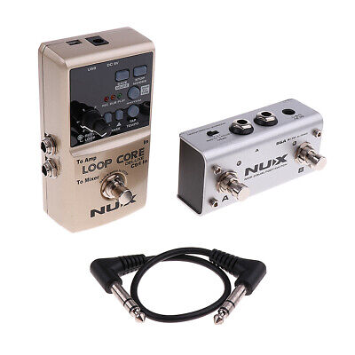 NUX Loop Core Deluxe Electric Guitar Effect Pedal True Bypass Musical Parts • 119.47£