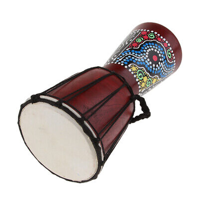 6inch African Djembe Drum Wooden Hand Percussion Toy Home Decor Display Gift • 15.14£