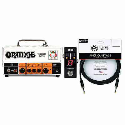 Orange Terror Bass Head 250/500W 4/8 Ohms Cable And Tuner Bundle • 586.81£