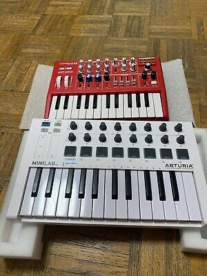 Arturia Minilab MKII Keyboard Controller & Microbrute Red ANALOG SYNTHESIZER • 229.57£