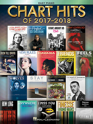 Chart Hits Of 2017-2018 European Version - Easy Piano Easy Piano  Book Only HL00 • 11.99£