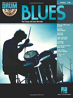 NEW - Blues: Drum Play-Along Volume 16 (Hal Leonard Drum Play-Along) • 12.14£