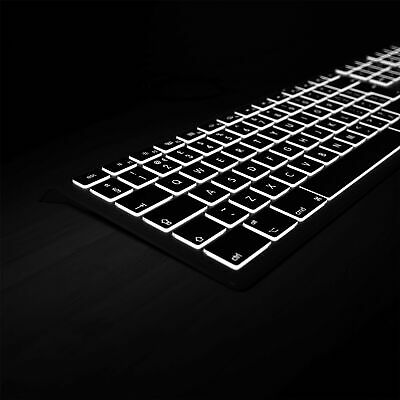 Mac Keyboard Backlit Wired USB Shortcut | By Editors Keys For Your IMac MacBook • 79.99£