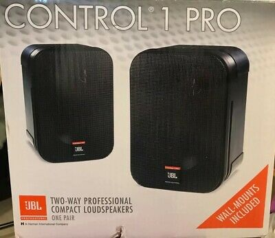 JBL Control 1 Pro Two-way Compact Speaker Pair With Wall Mounts 150 Watt • 120.61£