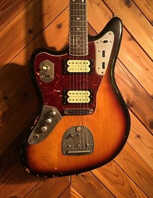 Used Fender Kurt Cobain Jaguar Left Handed Road Worn 3 Color Sunburst *Gxc902 • 1,746.55£