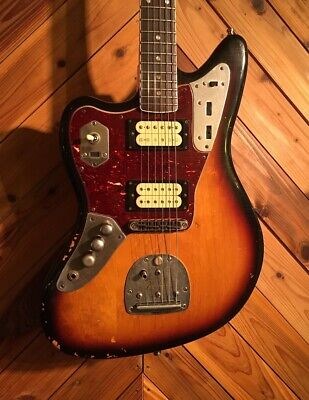 Used Fender Kurt Cobain Jaguar Left Handed Road Worn 3 Color Sunburst *Pzt19 • 1,746.55£