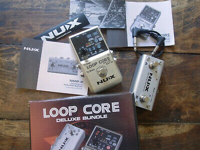 NUX Loop Core Deluxe 24 Bit Looper Pedal Deluxe Bundle With Extra Foot Switch • 80£