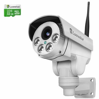 Luowice 1080P Wifi Security Camera 2MP With PTZ 4X Zoom With Audio Night Vision • 146.50£