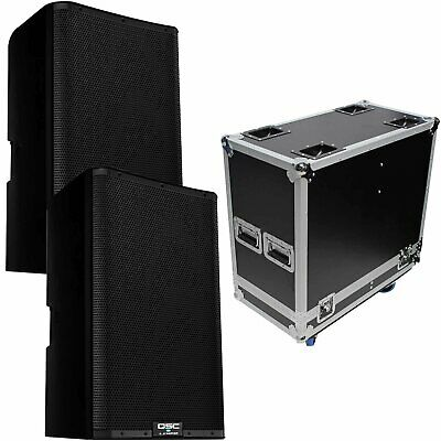 QSC K12.2 K2 Series 12  Powered DJ PA Speakers Pair With ATA Flight Case Pack • 1,157.73£