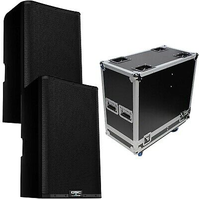 QSC K12.2 K2 Series 12  Powered DJ PA Speakers Pair With ATA Flight Case Pack • 1,225.94£