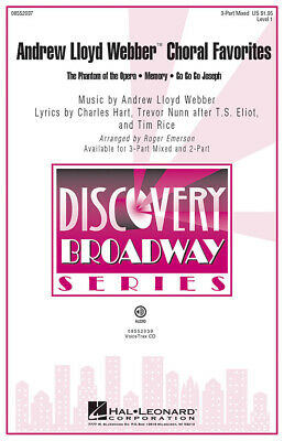 Choral Favourites  SAB and Piano Andrew Lloyd Webber Choral Score HL08552037