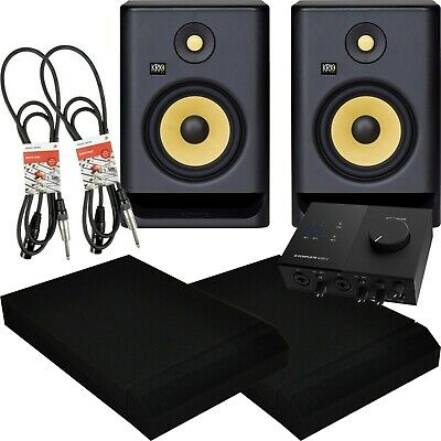 KRK Rokit RP7 G4 Active Studio Monitors With NI Audio 2 Isolation Pads Cables • 459£