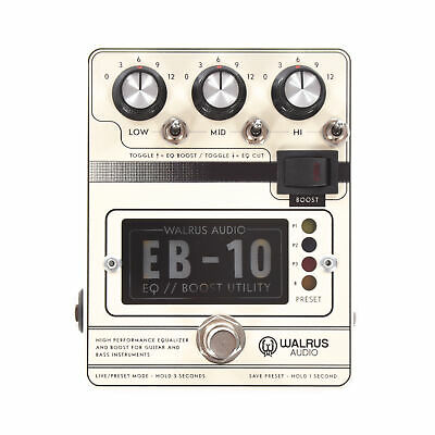 Walrus Audio EB-10 Preamp/EQ/Boost Cream • 176.85£