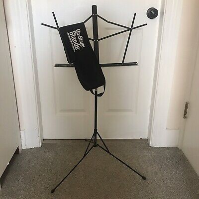 On Stage Stands Compact Sheet Music Stand W/Bag - Black - Sheet Holders • 14.46£