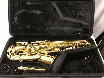 USED ​​YAMAHA Alto Saxophone YAS-280 Gold With Hard Case Tested From JAPAN • 919.27£