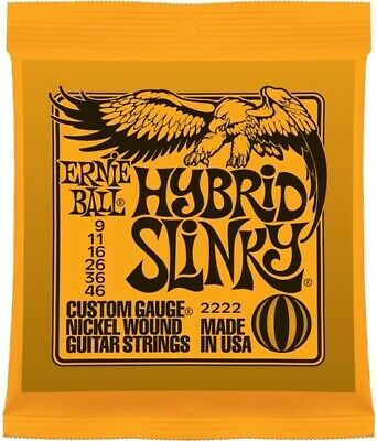 Ernie Ball 2222 Hybrid Slinky Electric Guitar Strings 9-46 - In Stock From UK • 7.95£