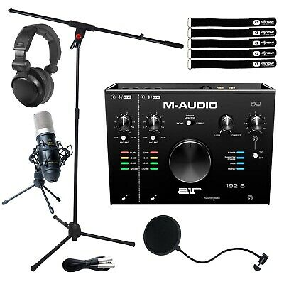 M-Audio Air 192|8 USB MIDI Home Audio Recording Interface W Mic & Headphones • 230.62£
