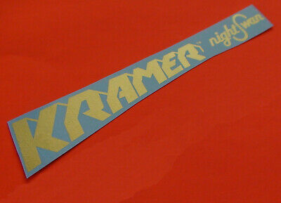 Kramer Guitar Neck 1 NightSwan Gold Pyramid Waterslide Decal • 13.50£