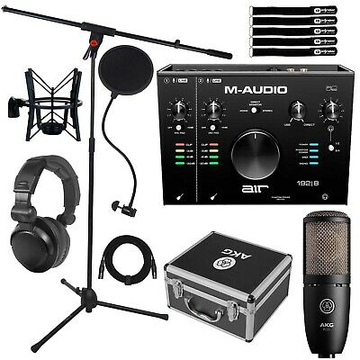 M-Audio AIR 192 | 8 USB MIDI Studio Audio Recording Interface W P220 Microphone • 287.97£
