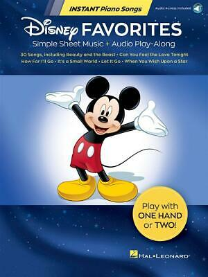 Disney Favorites - Instant Piano Songs Simple Sheet Music + Audio Play-Along Pia
