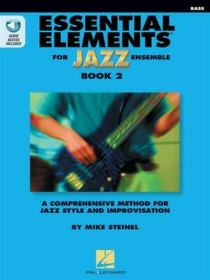 Essential Elements for Jazz Ensemble Book 2 Bass Bass  Book with several Online