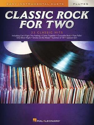 Classic Rock for Two Flutes Easy Instrumental Duets 2 Flutes  Book Only HL003030