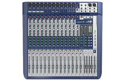 Soundcraft By Harman Signature 16, 16 Channel Mixer,Compact Analogue Mixing, NEW • 539.34£