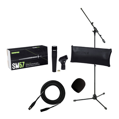 Shure SM57 Cardioid Dynamic Live Recording Instrument Microphone SM57-LC Bundle • 129.91£