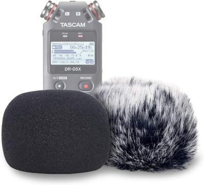 DR05X Windscreen Muff And Foam For Tascam DR-05X DR-05 Mic Recorders, DR05X Indo • 19.75£