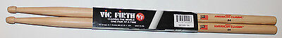 Vic Firth Wood 5A American Classic Hickory Drumsticks Pair, New • 9.47£