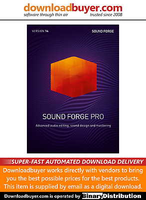 MAGIX Sound Forge Pro 14 - [Download] • 269£
