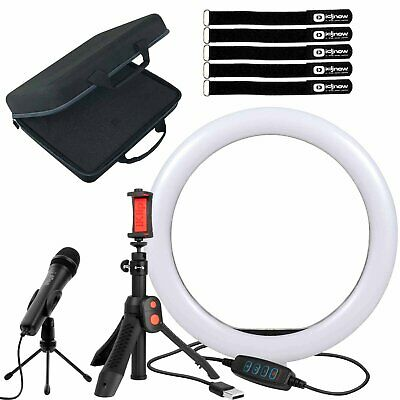 IRig Video Creator HD Bundle Digital Mic, Phone Stand, 10  LED Ring Light & Case • 145.53£