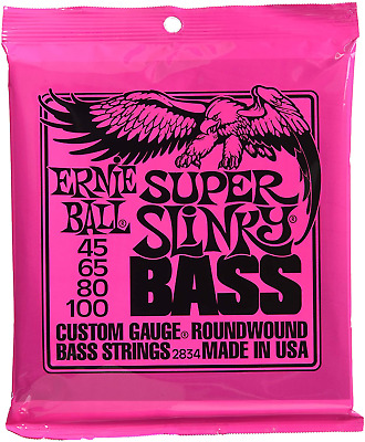 Ernie Ball 2834 Super Slinky Round Wound Bass Strings 2 Pack Standard • 52.73£