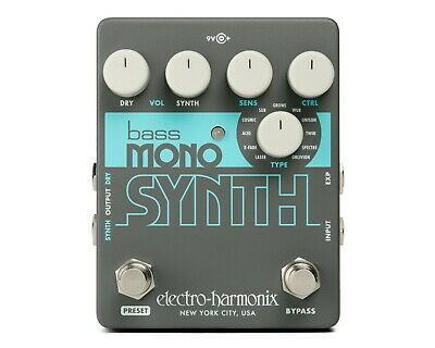 EHX Electro Harmonix Bass Mono Synth Bass Synthesizer Effects Pedal, Brand New ! • 88.33£