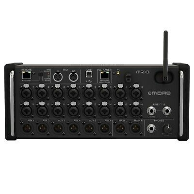 Midas MR18 18-Input Digital Live Pro Audio Mixer For IPad/Android Tablets • 943.10£