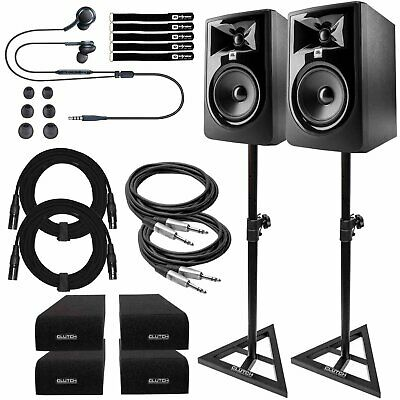 JBL 305P MkII Powered/Active 5  Studio Monitor Recording Speakers Pair W Stands • 298.80£