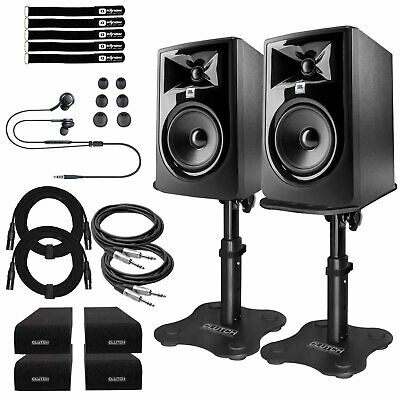 JBL 305P MkII Powered/Active 5  Studio Monitor Recording Speakers W Desk Stands • 321.88£