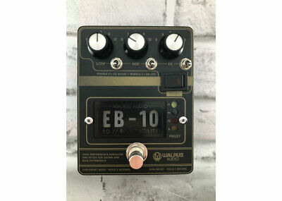 Walrus Audio EB-10 Preamp EQ Boost Matte Black FREE 2 DAY SHIP • 146.36£