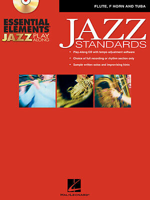 Essential Elements Jazz Play Along -Jazz Standards  Flute, F Horn And Tuba   Boo • 14.50£