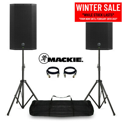 Mackie Thump12A V4 Active DJ PA Speakers 12  2600W Powered With Stands & Bag • 550£