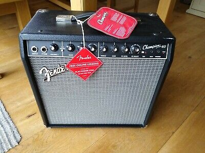 Fender Champion 40 Amplifier With Leads Unwanted Gift • 105£