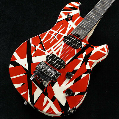 Evh Wolfgang Special Ebony Red Black And White Stripes Guitar *Nlh582 • 1,805.76£
