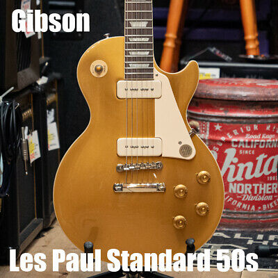 Gibson Les Paul Standard 50S P90 Gold Top Guitar *Ltv420 • 2,572.10£