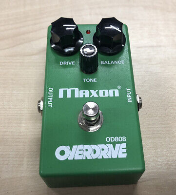 Maxon OD-808 Re-issue. Classic Green Overdrive Pedal. • 89£
