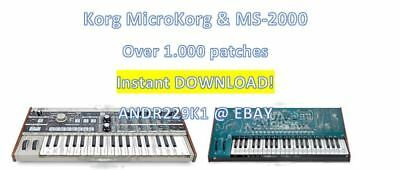 Korg Microkorg & MS-2000 - Patchbanks/Sounds – 1000+ Patches - D0WNL0AD • 13.69£