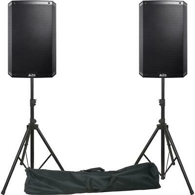 ALTO TS315 Active Powered PA DJ Speakers Inc Stands, Bag And Pro Cables. • 599£