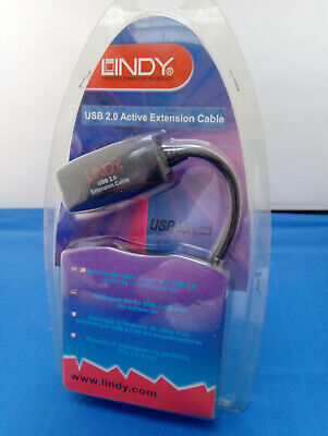 LINDY 5m USB 2.0 Active Extension Cable Unused Sealed 42915 • 7.99£