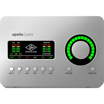 Universal Audio Apollo Solo USB Desktop 2x4 USB Type-C Audio Interface NEW • 373.59£