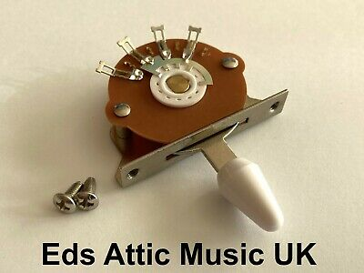 White Toggle Switch 5 Way For Fender Strat Guitars - Nice Quality - In Stock UK • 9.95£
