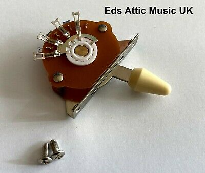 Cream Toggle Switch 5 Way For Fender Strat Guitars - Nice Quality - In Stock UK • 7.95£